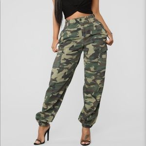 FASHION NOVA KIM CAMO PANTS
